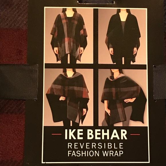 Ike Behar Accessories - Plaid/black Reversible Fashion Wrap